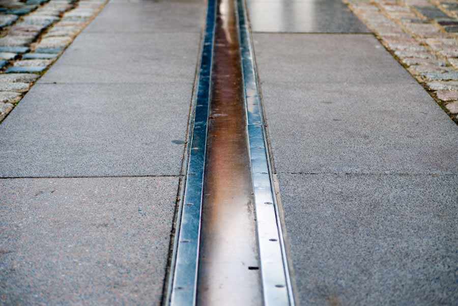 The Prime Meridian. Official dividing line between east and west.