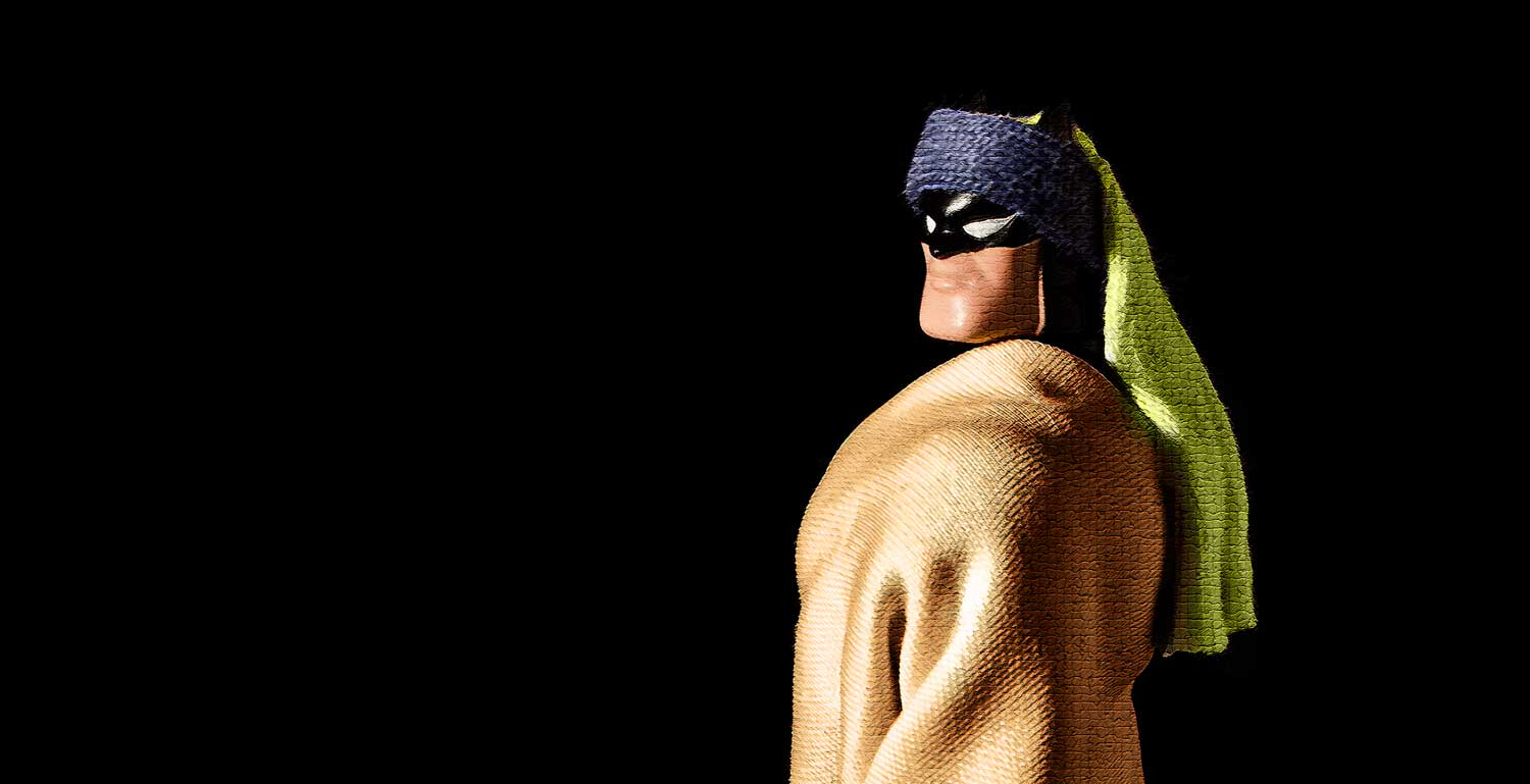 Superhero with a Pearl Earring (but without the pearl earring).