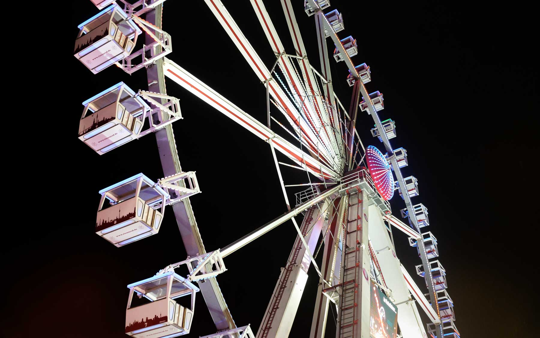 The Wheel in action at the Alexanderplatz Christmas Market