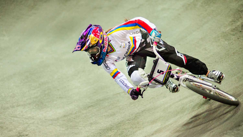 Women's time trial winner - Mariana Pajon.