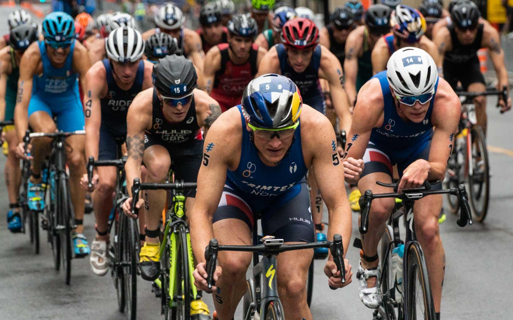 Kristian Blummenfelt leads the pack.