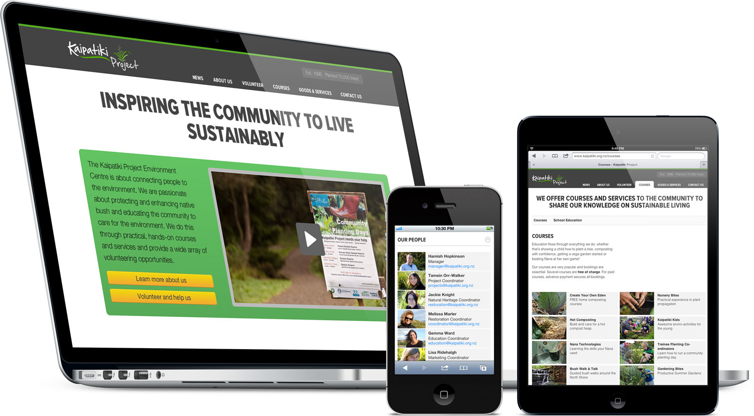 Redesign of the Kaipatiki Project website.