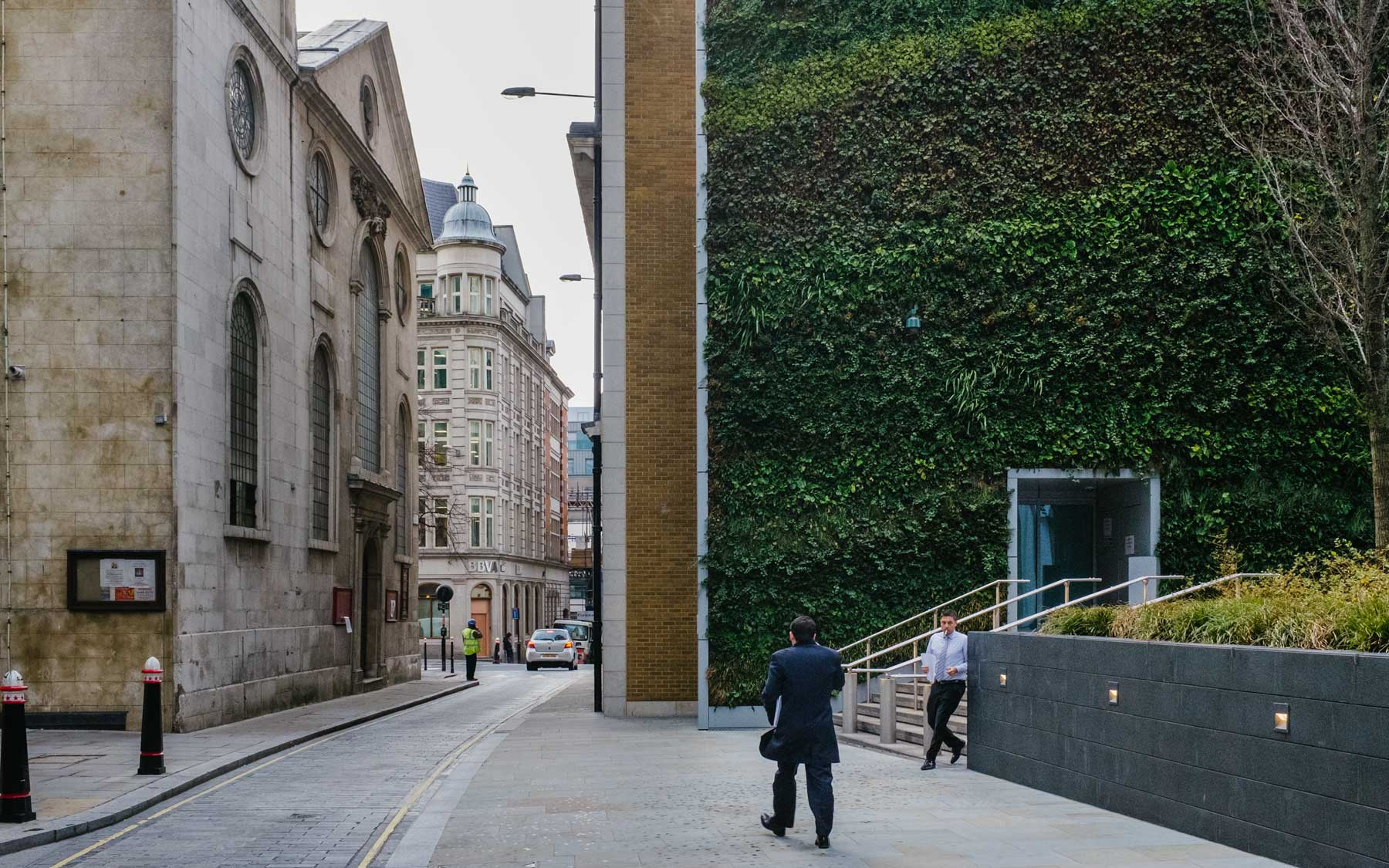 The green wall at 20 Fenchurch Street, London.