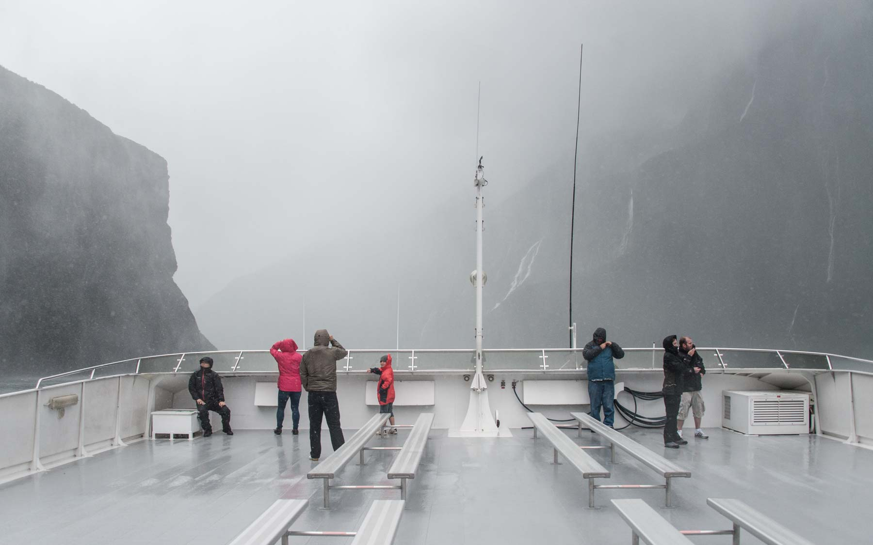 Venturing into Milford Sound