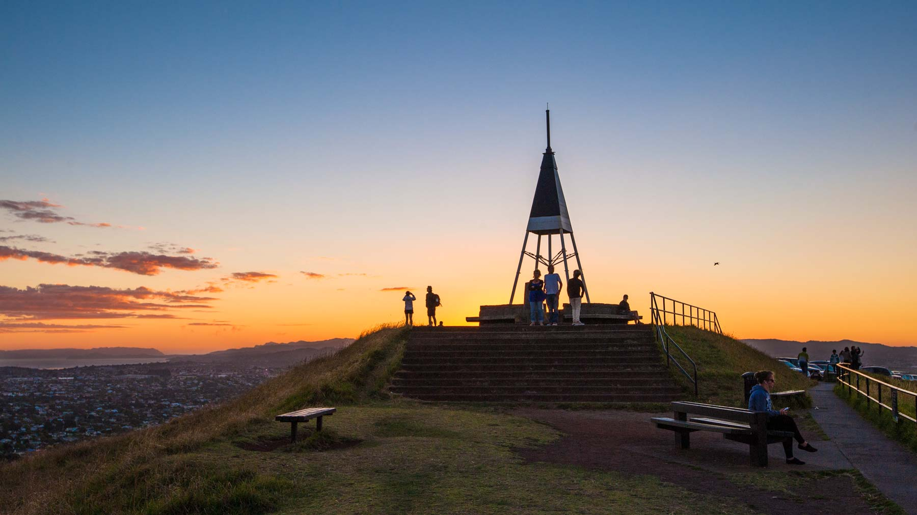 Sundown on Mt Eden.