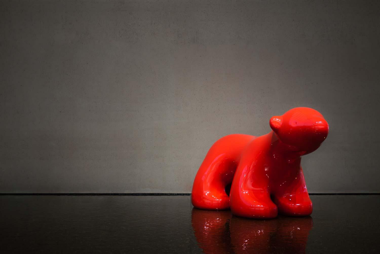 My Beautiful Lipstick Red Polar Bears by Scott Redford.