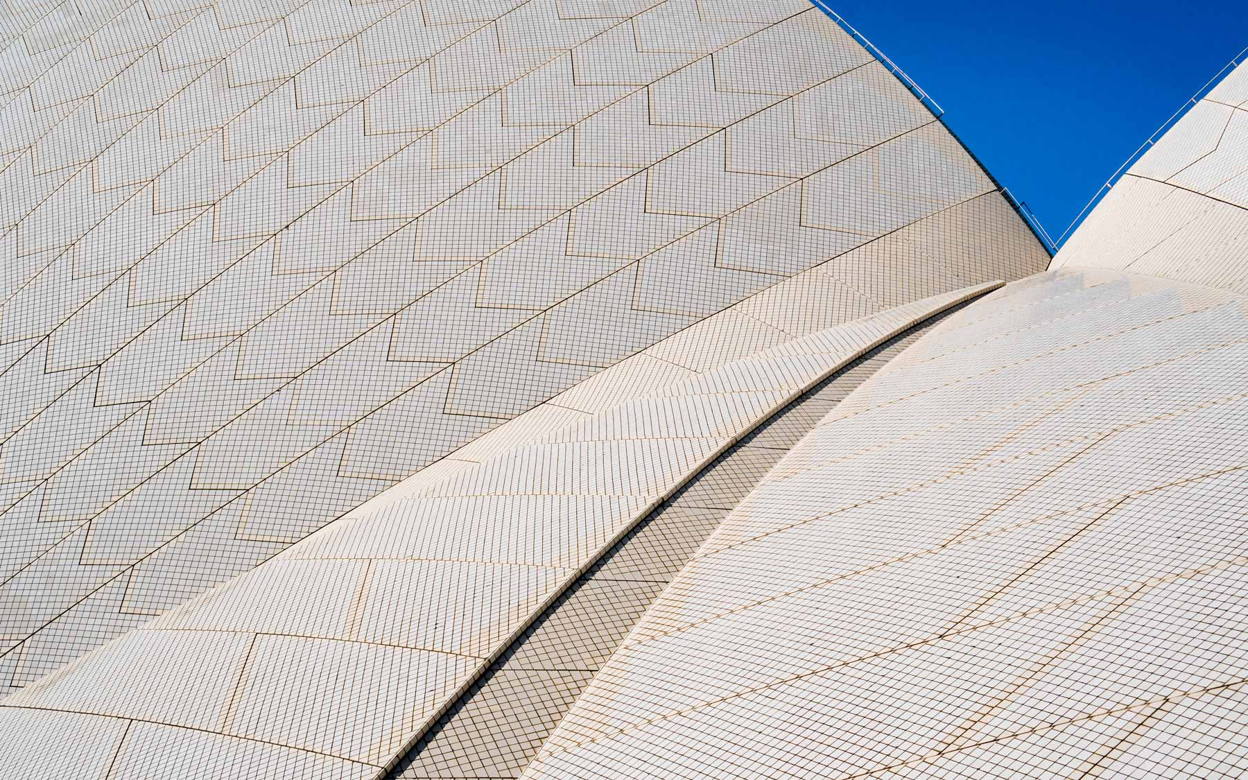The shell roof of the Sydney Opera House.