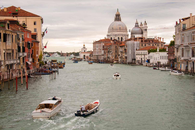 The classic view from the Ponte dell'Accademia towards Santa Maria della Salute.