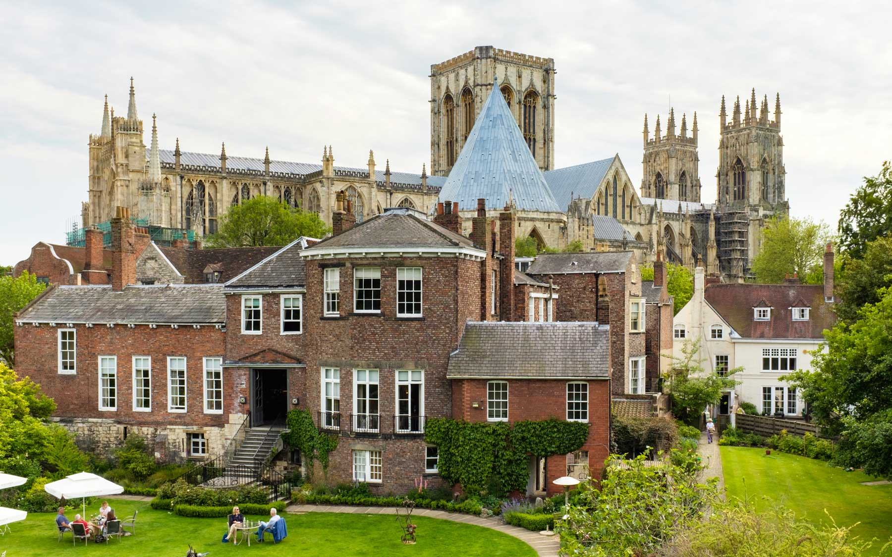 A view of York Minster from the city walls.